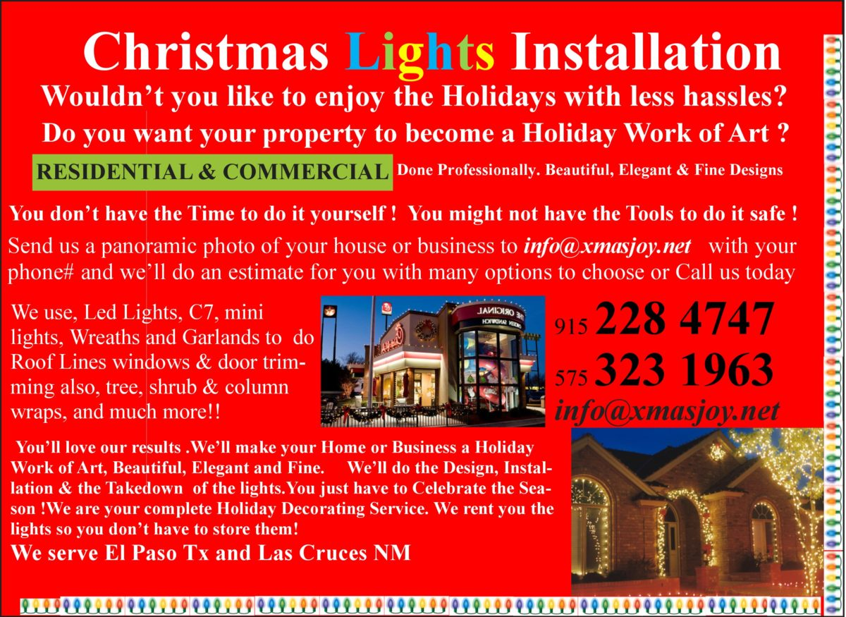 christmas lights installation